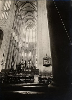 """<em>""""Cathedral, Beauvais, France, 1907""""</em>, 1907. Bw photographic print 5x7in, 5 x 7 in. Brooklyn Museum, Goodyear. (Photo: Brooklyn Museum, S03i1017v01.jpg"""