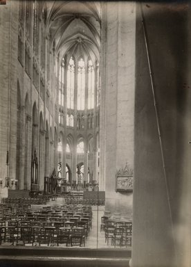 "<em>""Cathedral, Beauvais, France, 1907""</em>, 1907. Bw photographic print 5x7in, 5 x 7 in. Brooklyn Museum, Goodyear. (Photo: Brooklyn Museum, S03i1018v01.jpg"