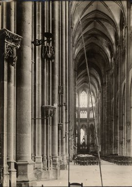"<em>""St. Ouen, Rouen, France, 1907""</em>, 1907. Bw photographic print 5x7in, 5 x 7 in. Brooklyn Museum, Goodyear. (Photo: Brooklyn Museum, S03i1020v01.jpg"