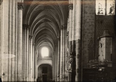 "<em>""Church of St. Quentin, St. Quentin, France, 1907""</em>, 1907. Bw photographic print 5x7in, 5 x 7 in. Brooklyn Museum, Goodyear. (Photo: Brooklyn Museum, S03i1022v01.jpg"