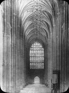 "<em>""Cathedral, Canterbury, England, 1914""</em>, 1914. Lantern slide 3.25x4in, 3.25 x 4 in. Brooklyn Museum, Goodyear. (Photo: Brooklyn Museum, S03i1129l01.jpg"