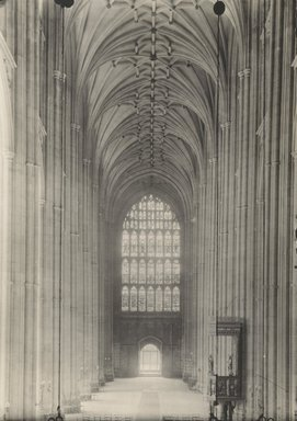 "<em>""Cathedral, Canterbury, England, 1914""</em>, 1914. Bw photographic print 5x7in, 5 x 7 in. Brooklyn Museum, Goodyear. (Photo: Brooklyn Museum, S03i1129v01.jpg"