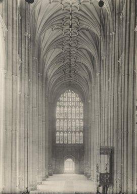 "<em>""Cathedral, Canterbury, England, 1914""</em>, 1914. Bw photographic print 5x7in, 5 x 7 in. Brooklyn Museum, Goodyear. (Photo: Brooklyn Museum, S03i1129v01.jpg"