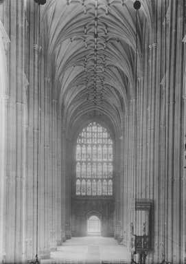 "<em>""Cathedral, Canterbury, England, 1914""</em>, 1914. Bw photographic print 5x7in, 5 x 7 in. Brooklyn Museum, Goodyear. (Photo: Brooklyn Museum, S03i1129v02.jpg"