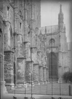 """<em>""""Cathedral, Canterbury, England, 1914""""</em>, 1914. Lantern slide 3.25x4in, 3.25 x 4 in. Brooklyn Museum, Goodyear. (Photo: Brooklyn Museum, S03i1130l01.jpg"""