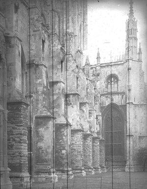 """<em>""""Cathedral, Canterbury, England, 1914""""</em>, 1914. Lantern slide 3.25x4in, 3.25 x 4 in. Brooklyn Museum, Goodyear. (Photo: Brooklyn Museum, S03i1130l02.jpg"""