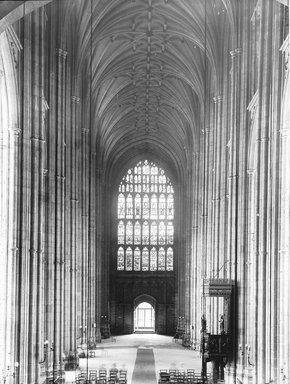 """<em>""""Cathedral, Canterbury, England, 1914""""</em>, 1914. Lantern slide 3.25x4in, 3.25 x 4 in. Brooklyn Museum, Goodyear. (Photo: Brooklyn Museum, S03i1131l01.jpg"""