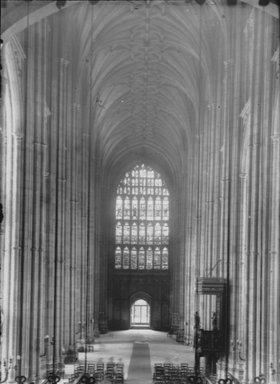 """<em>""""Cathedral, Canterbury, England, 1914""""</em>, 1914. Lantern slide 3.25x4in, 3.25 x 4 in. Brooklyn Museum, Goodyear. (Photo: Brooklyn Museum, S03i1131l02.jpg"""