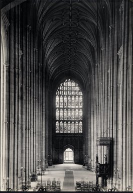 "<em>""Cathedral, Canterbury, England, 1914""</em>, 1914. Bw photographic print 5x7in, 5 x 7 in. Brooklyn Museum, Goodyear. (Photo: Brooklyn Museum, S03i1131v01.jpg"