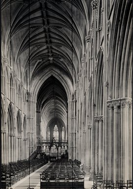 "<em>""Cathedral, Lichfield, England, 1914""</em>, 1914. Bw photographic print 5x7in, 5 x 7 in. Brooklyn Museum, Goodyear. (Photo: Brooklyn Museum, S03i1142v01.jpg"