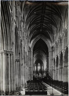"<em>""Cathedral, Lichfield, England, 1914""</em>, 1914. Bw photographic print. Brooklyn Museum, Goodyear. (Photo: Brooklyn Museum, S03i1143v01.jpg"