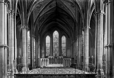 "<em>""Temple Church, London, England, 1914""</em>, 1914. Glass negative 5x7in, 5 x 7 in. Brooklyn Museum, Goodyear. (Photo: Brooklyn Museum, S03i1144n01.jpg"