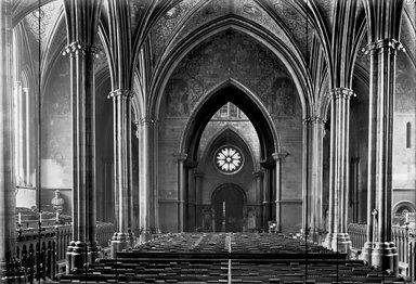 "<em>""Temple Church, London, England, 1914""</em>, 1914. Glass negative 5x7in, 5 x 7 in. Brooklyn Museum, Goodyear. (Photo: Brooklyn Museum, S03i1145n01.jpg"