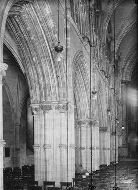 """<em>""""Christ Church Cathedral, Dublin, Ireland, 1914""""</em>, 1914. Lantern slide 3.25x4in, 3.25 x 4 in. Brooklyn Museum, Goodyear. (Photo: Brooklyn Museum, S03i1152l01.jpg"""