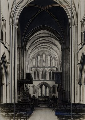 "<em>""St. Patrick's Cathedral, Dublin, Ireland, 1914""</em>, 1914. Bw photographic print. Brooklyn Museum, Goodyear. (Photo: Brooklyn Museum, S03i1157v01.jpg"