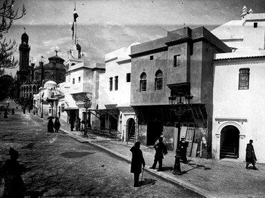 "<em>""Paris Exposition: Algerian Pavilion, Paris, France, 1900""</em>, 1900. Glass negative 3.25x4.25in, 3.25 x 4.25 in. Brooklyn Museum, Goodyear. (Photo: Brooklyn Museum, S03i1500n01a.jpg"