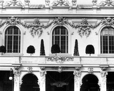 "<em>""Paris Exposition: Austria-Hungary Pavilion, Paris, France, 1900""</em>, 1900. Bw copy print 8x10in, 8 x 10 in. Brooklyn Museum, Goodyear. (Photo: Brooklyn Museum, S03i1502c01a.jpg"