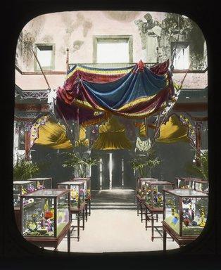 "<em>""Paris Exposition: Bosnia-Herzegovinian Pavilion, Paris, France, 1900""</em>, 1900. Lantern slide 3.25x4in, 3.25 x 4 in. Brooklyn Museum, Goodyear. (Photo: Brooklyn Museum, S03i1504l01_SL4.jpg"