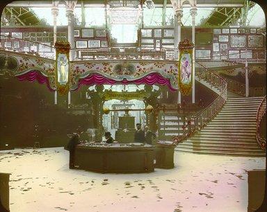 "<em>""Paris Exposition: Bosnia-Herzegovinian Pavilion, Paris, France, 1900""</em>, 1900. Lantern slide 3.25x4in, 3.25 x 4 in. Brooklyn Museum, Goodyear. (Photo: Brooklyn Museum, S03i1505l01.jpg"