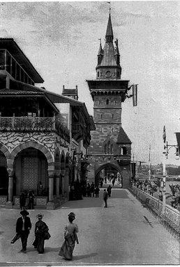 "<em>""Paris Exposition: Bosnia-Herzegovinian Pavilion, Paris, France, 1900""</em>, 1900. Glass negative 3.25x4.25in, 3.25 x 4.25 in. Brooklyn Museum, Goodyear. (Photo: Brooklyn Museum, S03i1506n01a.jpg"