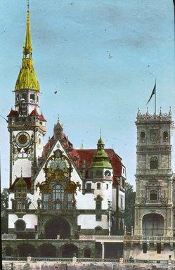 "<em>""Paris Exposition: German Pavilion, Paris, France, 1900""</em>, 1900. Lantern slide 3.25x4in, 3.25 x 4 in. Brooklyn Museum, Goodyear. (Photo: Brooklyn Museum, S03i1512l01.jpg"