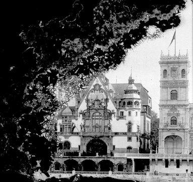 "<em>""Paris Exposition: German Pavilion, Paris, France, 1900""</em>, 1900. Glass negative 3.25x4.25in, 3.25 x 4.25 in. Brooklyn Museum, Goodyear. (Photo: Brooklyn Museum, S03i1512n01a.jpg"