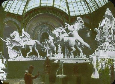 "<em>""Paris Exposition: Grand Palais, Paris, France, 1900""</em>, 1900. Lantern slide 3.25x4in, 3.25 x 4 in. Brooklyn Museum, Goodyear. (Photo: Brooklyn Museum, S03i1514l01.jpg"