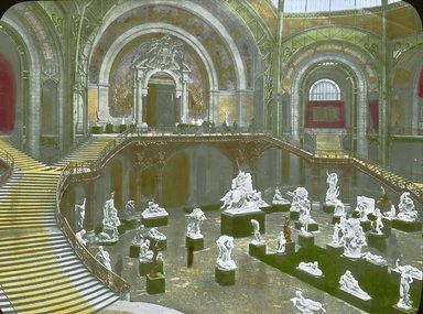 "<em>""Paris Exposition: Grand Palais, Paris, France, 1900""</em>, 1900. Lantern slide 3.25x4in, 3.25 x 4 in. Brooklyn Museum, Goodyear. (Photo: Brooklyn Museum, S03i1515l01a.jpg"