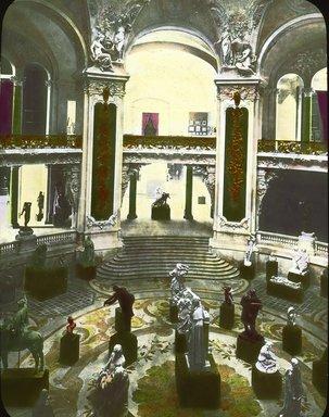 "<em>""Paris Exposition: Grand Palais, Paris, France, 1900""</em>, 1900. Lantern slide 3.25x4in, 3.25 x 4 in. Brooklyn Museum, Goodyear. (Photo: Brooklyn Museum, S03i1517l01a.jpg"