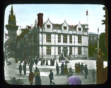 "<em>""Paris Exposition: Hungarian Pavilion, Paris, France, 1900""</em>, 1900. Lantern slide 3.25x4in, 3.25 x 4 in. Brooklyn Museum, Goodyear. (Photo: Brooklyn Museum, S03i1521l01_SL1.jpg"