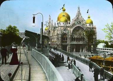 "<em>""Paris Exposition: Italian Pavilion, Paris, France, 1900""</em>, 1900. Lantern slide 3.25x4in, 3.25 x 4 in. Brooklyn Museum, Goodyear. (Photo: Brooklyn Museum, S03i1523l01.jpg"