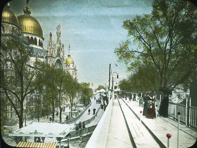 "<em>""Paris Exposition: Italian Pavilion, Paris, France, 1900""</em>, 1900. Lantern slide 3.25x4in, 3.25 x 4 in. Brooklyn Museum, Goodyear. (Photo: Brooklyn Museum, S03i1524l01_SL1.jpg"