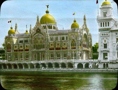 "<em>""Paris Exposition: Italian Pavilion, Paris, France, 1900""</em>, 1900. Lantern slide 3.25x4in, 3.25 x 4 in. Brooklyn Museum, Goodyear. (Photo: Brooklyn Museum, S03i1525l01.jpg"