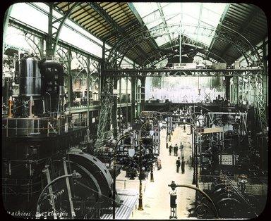 "<em>""Paris Exposition: Palace of Electricity, Paris, France, 1900""</em>, 1900. Lantern slide 3.25x4in, 3.25 x 4 in. Brooklyn Museum, Goodyear. (Photo: Brooklyn Museum, S03i1536l01_SL1.jpg"