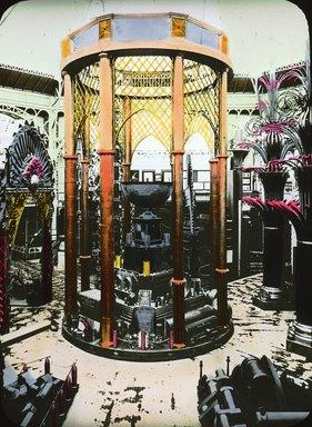 "<em>""Paris Exposition: Palace of Metallurgy and Mines, Coffer Societe de Metaux, Paris, France, 1900""</em>, 1900. Lantern slide 3.25x4in, 3.25 x 4 in. Brooklyn Museum, Goodyear. (Photo: Brooklyn Museum, S03i1539l01.jpg"