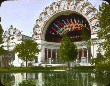 "<em>""Paris Exposition: Palace of Optics, Paris, France, 1900""</em>, 1900. Lantern slide 3.25x4in, 3.25 x 4 in. Brooklyn Museum, Goodyear. (Photo: Brooklyn Museum, S03i1540l01.jpg"