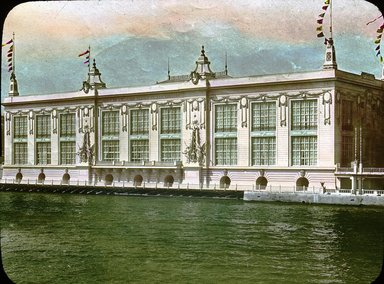 """<em>""""Paris Exposition: Palace of Social Economy and Congress, Paris, France, 1900""""</em>, 1900. Lantern slide 3.25x4in, 3.25 x 4 in. Brooklyn Museum, Goodyear. (Photo: Brooklyn Museum, S03i1541l01.jpg"""