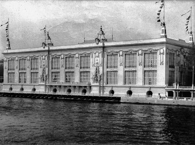 """<em>""""Paris Exposition: Palace of Social Economy and Congress, Paris, France, 1900""""</em>, 1900. Glass negative 3.25x4.25in, 3.25 x 4.25 in. Brooklyn Museum, Goodyear. (Photo: Brooklyn Museum, S03i1541n01a.jpg"""