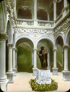 "<em>""Paris Exposition: interior view, Paris, France, 1900""</em>, 1900. Lantern slide 3.25x4in, 3.25 x 4 in. Brooklyn Museum, Goodyear. (Photo: Brooklyn Museum, S03i1565l01.jpg"