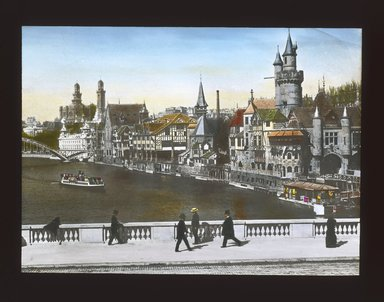 "<em>""Paris Exposition: Vieux Paris (Old Paris), Paris, France, 1900""</em>, 1900. Lantern slide 3.25x4in, 3.25 x 4 in. Brooklyn Museum, Goodyear. (Photo: Brooklyn Museum, S03i1569l01_SL1.jpg"