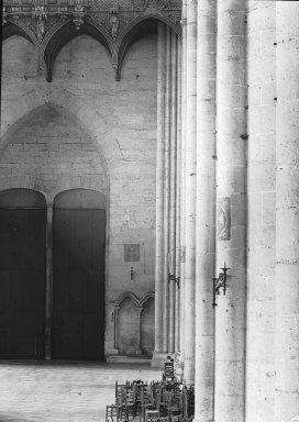 "<em>""Cathedral, Amiens, France, 1907""</em>, 1907. Lantern slide 3.25x4in, 3.25 x 4 in. Brooklyn Museum, Goodyear. (Photo: Brooklyn Museum, S03i1801l01.jpg"