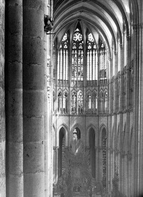 "<em>""Cathedral, Amiens, France, 1907""</em>, 1907. Lantern slide 3.25x4in, 3.25 x 4 in. Brooklyn Museum, Goodyear. (Photo: Brooklyn Museum, S03i1806l01.jpg"