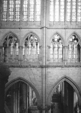 "<em>""Cathedral, Amiens, France, 1907""</em>, 1907. Lantern slide 3.25x4in, 3.25 x 4 in. Brooklyn Museum, Goodyear. (Photo: Brooklyn Museum, S03i1810l01.jpg"