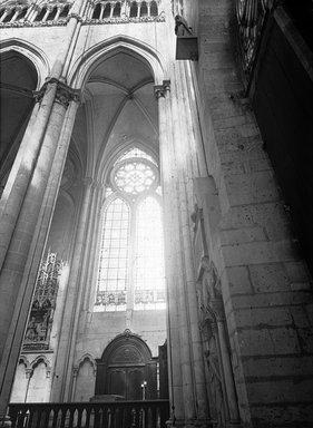 "<em>""Cathedral, Amiens, France, 1907""</em>, 1907. Lantern slide 3.25x4in, 3.25 x 4 in. Brooklyn Museum, Goodyear. (Photo: Brooklyn Museum, S03i1820l01.jpg"