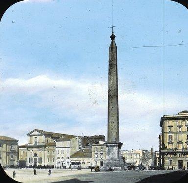 "<em>""Church of S. John Lateran, Rome, Italy""</em>. Lantern slide 3.25x4in, 3.25 x 4 in. Brooklyn Museum, Goodyear. (Photo: T.H. McAllister, S03i2739l01.jpg"