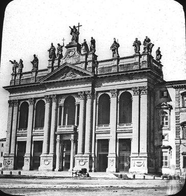 "<em>""Church of S. John Lateran, Rome, Italy""</em>. Lantern slide 3.25x4in, 3.25 x 4 in. Brooklyn Museum, Goodyear. (Photo: J. Levy cie, S03i2943l01.jpg"