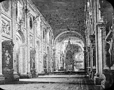 "<em>""Church of S. John Lateran, Rome, Italy""</em>. Lantern slide 3.25x4in, 3.25 x 4 in. Brooklyn Museum, Goodyear. (Photo: Brooklyn Museum, S03i2946l01.jpg"