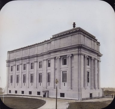 "<em>""Brooklyn Museum: exterior. View of the completed West Wing from the northwest, showing north and west facades, 1898.""</em>, 1898. Color transparency 4x5in, 4 x 5in (10.2 x 12.7 cm). Brooklyn Museum, Museum building. (Photo: Brooklyn Museum, S06_BEEi006.jpg"