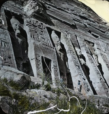 "<em>""Views, Objects: Egypt. Abu Simbel. View 10: Egypt - Abu Simbel.""</em>. Lantern slide 3.25x4in, 3.25 x 4 in. Brooklyn Museum, lantern slides. (S10_08_Egypt_AbuSimbel10.jpg"