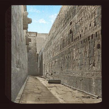 "<em>""Views, Objects: Egypt. Edfu. View 01: Egypt - Edfu.""</em>. Lantern slide 3.25x4in, 3.25 x 4 in. Brooklyn Museum, lantern slides. (S10_08_Egypt_Edfu01_SL1.jpg"